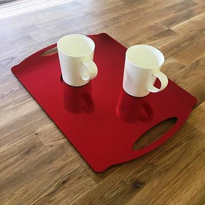 "Rectangle Flat Serving Tray - Red Mirror Acrylic, 3mm Thick 30x40cm 12""x16"""