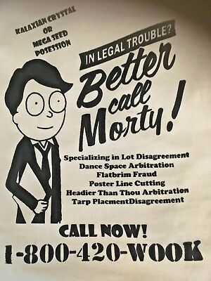 Better Call Morty Lot Lawyer Grateful Dead Phish Widespread Panic Large T Shirt