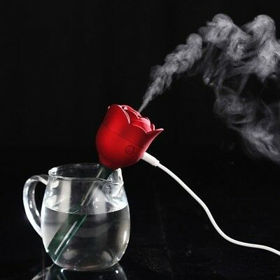 Portable Mini USB Rose Humidifier Air Diffuser Office Silent Purifier Atomizers