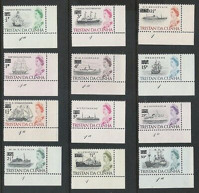 Tristan da Cunha 1971 MNH OG #141-152 (With corner and sheet number)