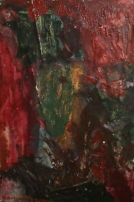 Vintage French Abstract Oil Painting Signed Andre Masson