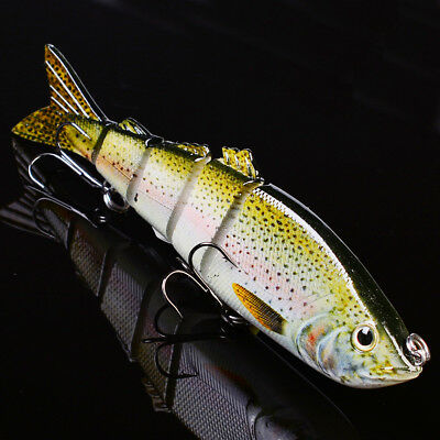 """1PC Swimbait 5 Sections 16cm/6.3""""-1.53oz/43.5g Fishing Tackle Lure 2# Hook Baits"""
