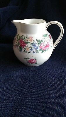 "Crown Staffordshire Thousand Flowers 4 1/2"" pitcher ~ Fine English Bone China"