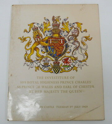 The Investiture of His Royal Highness PRINCE CHARLES - Souvenir Book 1969