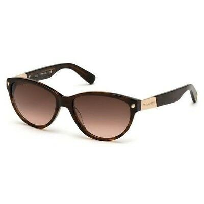 7c6cd638324096 Authentic DSquared 2 DQ0147 71F Sunglasses Brown Frames Lens