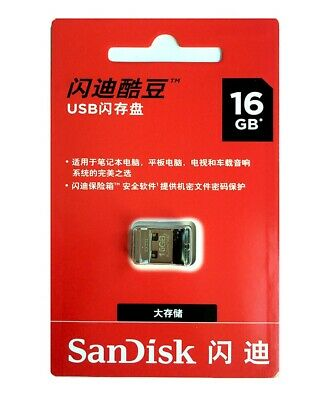clé USB SanDisk Cruzer Pen SDCZ33 16 Go GB USB Fit Lecteurs flash Drive Stick