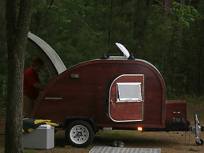 Big Woody Teardrop Camper Trailer Plans CD  and template FREE SHIP