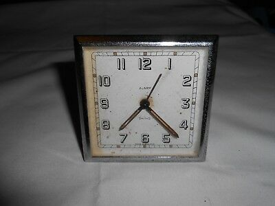 Vintage Smiths Alarm Clock Balance Appears Ok For Spares Or Repair.