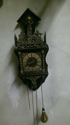 Nu Elck Syn Sin Antique Vintage Clock. Double Brass Weighted