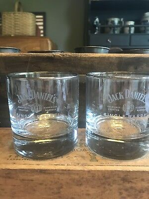 Jack Daniels Single Barrel Select Etched Glass Rocks Lowball Sipper, Set Of 2