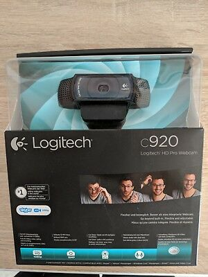 Logitech C920 HD Pro Webcam in OVP FULL-HD, AUTOFOKUS, ZEISS-OPTIK
