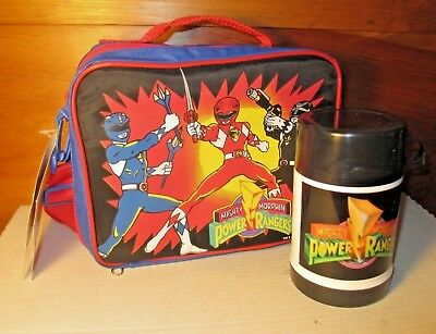 New Original 1993 Mighty Morphin Power Rangers Lunch Bunch Box w/ Thermos ERO