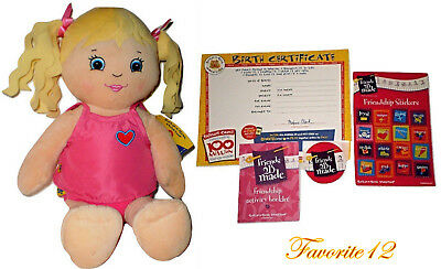Build a Bear Daisy Doll Friends 2B Made 2012 Large 17in. Plush Toy Blonde Hair
