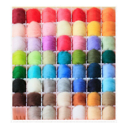 NEW 20 Colour Wool Needles Felt Tool Set + Needle Felting Mat Starter Kits DIY Z