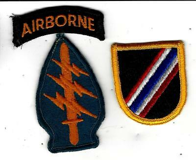 VN War patch lot/ group: Special Forces patch and tab and 46th Co flash. Real!!