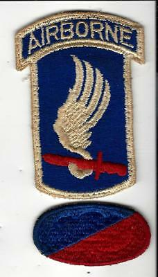 Rarest 173rd Airborne patch, VN War, 1 pc w/white border MATCHING tab. Awesome!