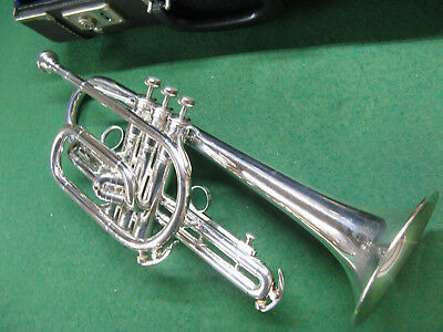 King Cleveland 602 Silver Cornet, Very Nice Original Case, Benge 7C MP and Lyre