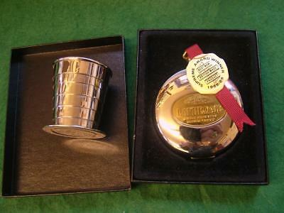 """GRANTS Of DALVEY """"LAPHROAIG"""" Collapsible Pocket / Stirrup Cup in Case"""