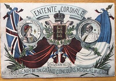 Entente Cordiale Souvenir of the Grand Concours Musical of Jersey 1907