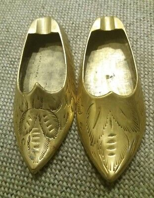 Vintage Copper Pair of Mini Shoes Figurines Collectables