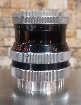 Kern Pallard Switar 25mm f1.5 AR lens C mount for 16mm Bolex #311412