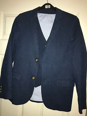 M & S Boys Blue Suit And Trousers 11-12Yrs