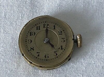 Spares Repairs 21mm Art Deco Ladies Watch Movement - No Case or Strap Wont Wind