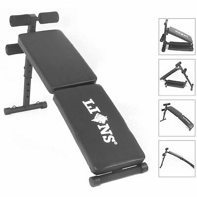 INCLINE SIT UP WEIGHT BENCH Abs Curved Abdominal Gym Fitness Exercise Foldable