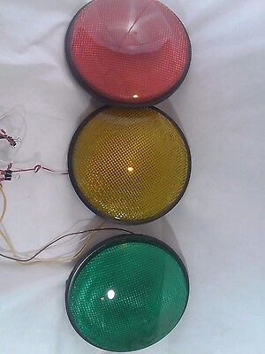 """12"""" LED Traffic Stop Light Signal Set of 3 Red Yellow & Green Gaskets 120V ."""