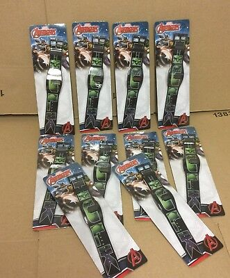 10 x Official Marvel Avengers  Hulk  watches  clearance job lot wholesale