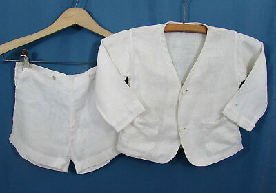 Vintage Little Boys Linen Suit - Jacket & short pants - ca 1930s-40s