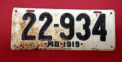 *1919* Maryland License Plate  Poker  Great # 22-934