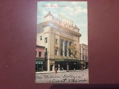 Minneapolis, Minnesota Orpheum Theatre Antique Postcard 1908 R. Steinman No. 117