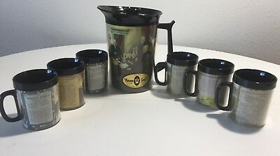 VTG Thermo Serv Colonial America Declaration Of Independence Set Of Mugs Pitcher