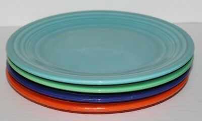 """Vintage Lot of 4 Fiesta Luncheon Plates Multiple Colors 9 1/4"""" Inches Wide"""