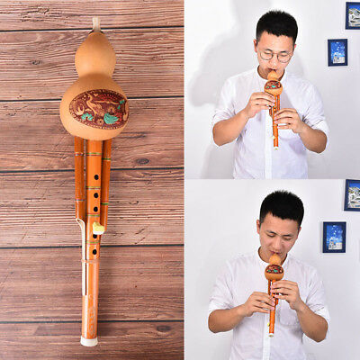 profeesional chinese hulusi gourd cucurbit flute c key ethnic instrument -QY
