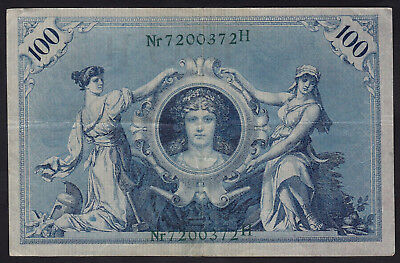 1908 100 Mark Germany Vintage Paper Money Banknote Currency Rare Old Antique