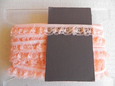 Card of New Gathered Lace - Peach