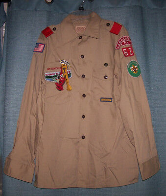Vintage Bsa Boy Scout Long Sleeve Shirt Landenberg Pa 62 With Pins &  Badges