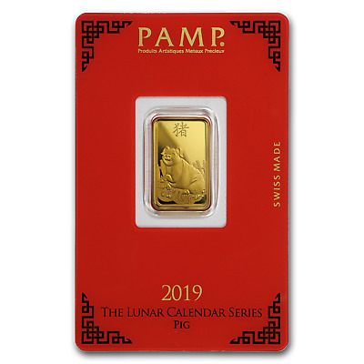 5 gram Gold Bar - PAMP Suisse Year of the Pig (In Assay) - SKU#173458