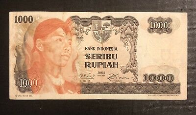 INDONESIA 1,000 Rupiah, 1968, P-110, World Currency