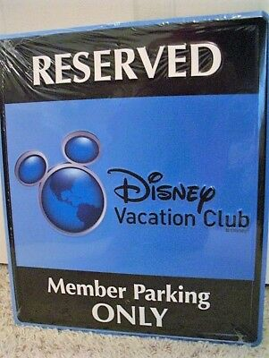 NEW ~ RARE ~ DISNEY Vacation Club DVC MEMBER PARKING ONLY Metal Sign