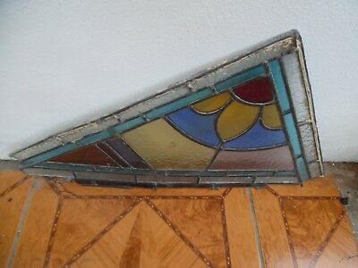 Victorian Stained Glass Part Window Fragments