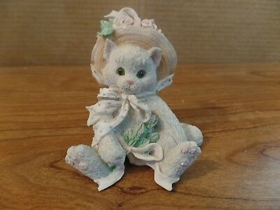 1992 Enseco Calico Kitten Our Friendship Blossomed From The Heart Figurine #2534