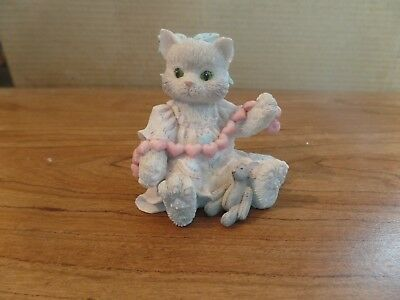 1992 Enseco Calico Kittens A Good Friend Warms The Heart Figurine #2530
