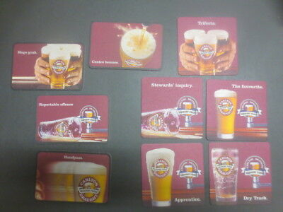 2 complete sets  ,CARLTON DRAUGHT AFL Football. collectable COASTERS  A