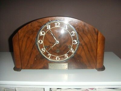 vintage Art Deco Style German Westminster Chiming Mantle Clock