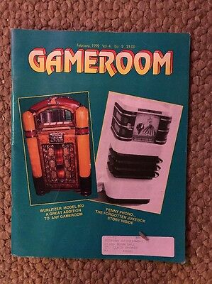 Gameroom Magazines: 1992, 1 Issues All Complete Great Shape