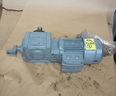 SEW Eurodrive HW30 DR63L4/BR/TF electric motor gearbox 27.5:1 0.25kW 3 PHASE