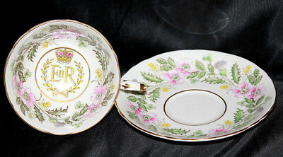 1953 Paragon Coronation H.m. Queen Elizabeth Ii Teacup And Saucer Set
